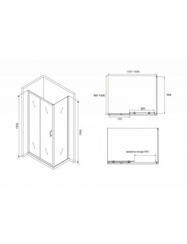 VAYER TRINITY 160 x 120 x 47 (370л) R акриловая ванна