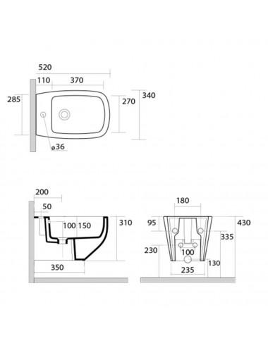 RELISAN ARIADNA 160 х 105 х 44 (210л) L гидромассажная ванна