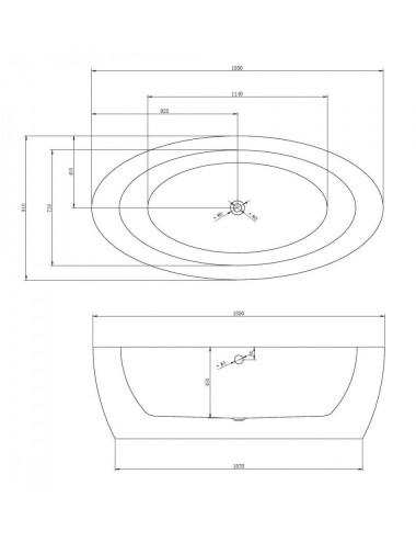 RIHO ручка LUX для ванны металлическая хром